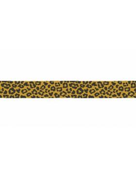 3m Jersey Schrägband Leo Leomuster senf gelb schwarz 20 mm breit