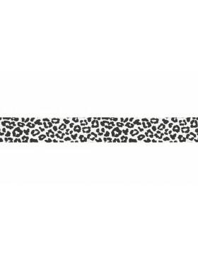 3m Jersey Schrägband Leo Leomuster weiß creme weiß schwarz 20mm breit