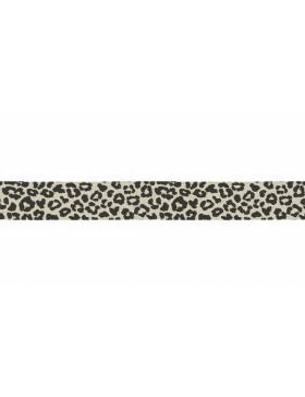 3m Jersey Schrägband Leo Leomuster sand beige schwarz 20mm breit
