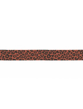 3m Jersey Schrägband Leo Leomuster rost orange schwarz 20 mm breit