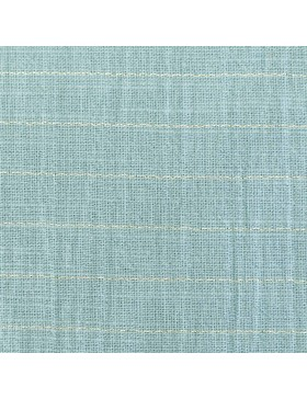 Baumwolle Webware türkis mint hellblau gold Streifen Sari Fluor...
