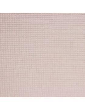 Waffelpique Waffelstoff altrosa nude bleached rose uni einfarbig