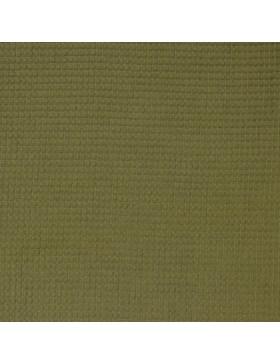 Waffelpique Waffelstoff khaki oliv moos grün uni einfarbig