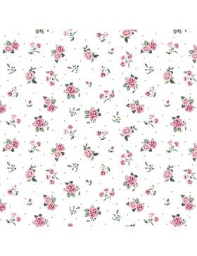 Soft Sweat weiß kleine Rosen Röschen Streublümchen