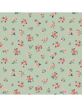 Soft Sweat helles mint kleine Rosen Röschen Streublümchen