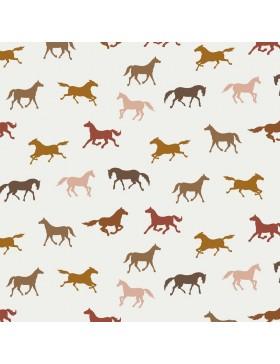 Jersey Horses Pferd Pferde rose rost bordeaux auf creme weiß