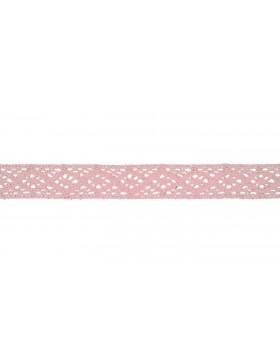 Baumwoll Spitze Häkelspitze rosa rose 20 mm breit