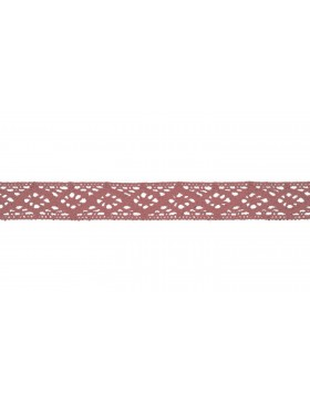 Baumwoll Spitze Häkelspitze altrosa nude 20 mm breit