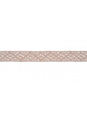Baumwoll Spitze Häkelspitze beige powder 20 mm breit
