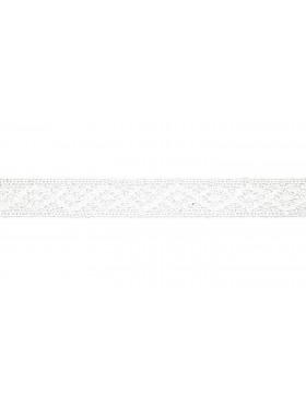 Baumwoll Spitze Häkelspitze weiß 20 mm breit