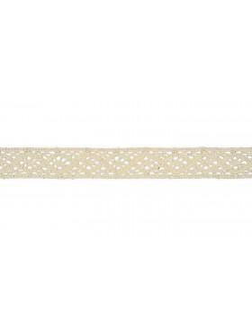 Baumwoll Spitze Häkelspitze creme weiß 20 mm breit