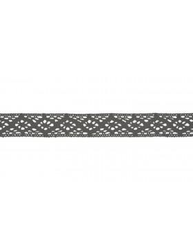 Baumwoll Spitze Häkelspitze grau 20 mm breit