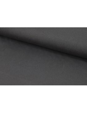 Rib Jersey schwarz einfarbig gerippt Feinripp