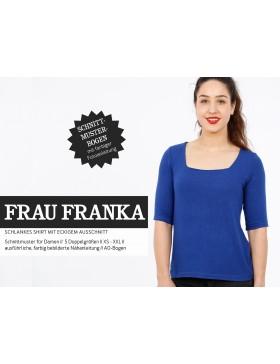 Schnittmuster Frau Franka Schnittreif T-Shirt mit kastigem Ausschnitt