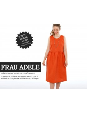 Schnittmuster Frau Adele Schnittreif luftiges Kleid mit Knopfleiste