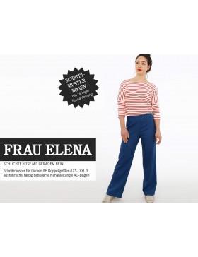 Schnittmuster Frau Elena Schnittreif schlichte Hose mit geradem Bein