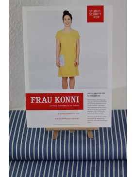 DIY Paket Jeans Chambray blau gestreift Kleid Frau Konni...