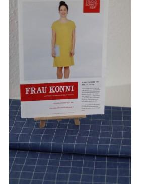 DIY Paket Jeans Chambray blau kariert Kleid Frau Konni Schnittreif...