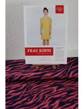 DIY Paket Zebra koralle dunkelblau Thorsten Berger Kleid Frau Konni...