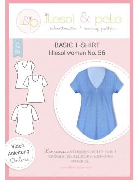 Schnittmuster Lillesol & Pelle Basic T-Shirt Nr. 56 Damen