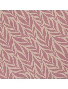 Deko Taschenstoff beige taupe rosa rose Blätter Leinenoptik