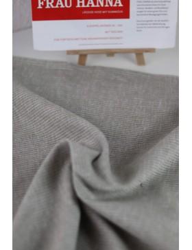 DIY Paket Leinen Baumwolle beige weiß gestreift Hose Frau Hanna...