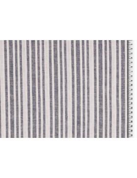 Leinen Baumwoll Stoff Streifen gestreift Längsstreifen blau weiß