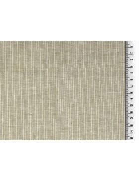 Leinen Baumwoll Stoff Streifen gestreift Längsstreifen beige taupe...