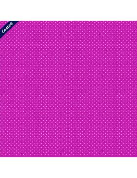 Beschichtete Baumwolle Pünktchen Punkte gepunktet pink weiß