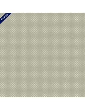 Beschichtete Baumwolle Pünktchen Punkte gepunktet beige sand weiß