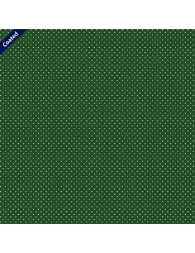 Beschichtete Baumwolle Pünktchen Punkte gepunktet dunkelgrün...