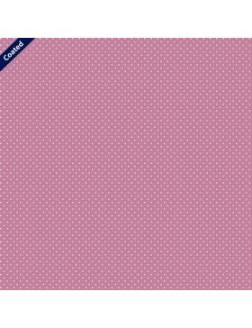 Beschichtete Baumwolle Pünktchen Punkte gepunktet altrosa rose rosa...