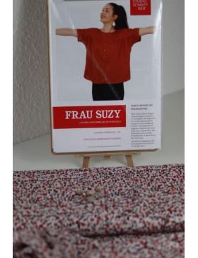 DIY Paket Bluse Frau Suzy Schnittreif rosa bunt getupft
