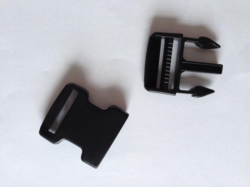 Steckschnalle Steckschieber 25 mm schwarz