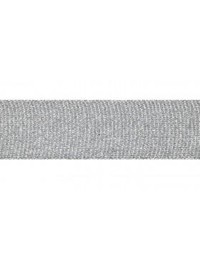 1m Zierband Strickband Hoodieband silber 30 mm breit