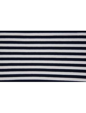 Jersey Streifen dunkelblau blau weiß geringelt Ringel gestreift 1cm