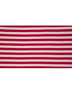 Jersey Streifen rot weiß geringelt Ringel gestreift 1cm