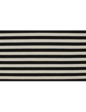Jersey Streifen schwarz weiß geringelt Ringel gestreift 1cm
