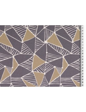Deko Canvas Dreiecke Dreieck grafische Muster grau beige