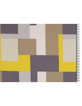 Deko Canvas grafische Muster skandinavisch grau hellgrau gelb beige