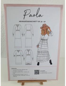 Schnittmuster Paola Kleid Maxikleid La Bavarese