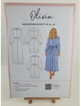 Schnittmuster Olivia Blusenkleid Hemdblusenkleid La Bavarese