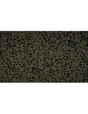 Viskose Jersey khaki schwarz Tupfen Dots