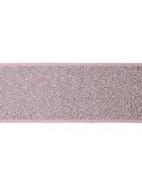 1m Gummiband altrosa silber 40mm breit Gummi