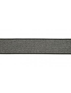 1m Gummiband grau silber 40mm breit Gummi