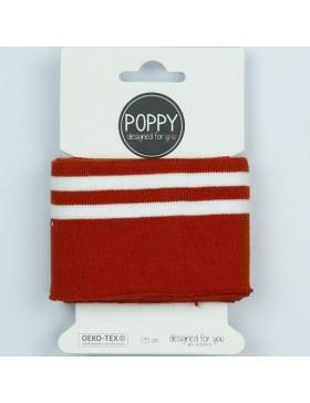 Bündchen Cuff rost rot braun weiß gestreift College Streifen