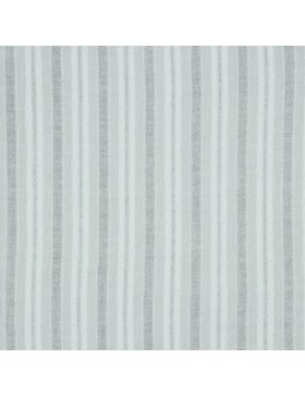 Baumwoll Webware creme ecru weiß längs gestreift leinenähnlich