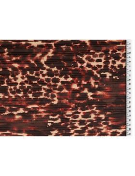 Plissee Stoff Leo Leomuster creme rost rot braun Animalprint