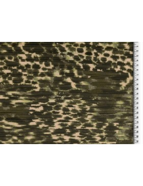 Plissee Stoff Leo Leomuster creme khaki oliv grün Animalprint