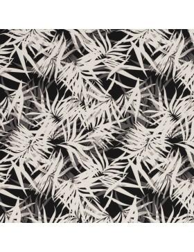Canvas Taschenstoff Blätter Palmen schwarz grau weiß Rinteln Swafing